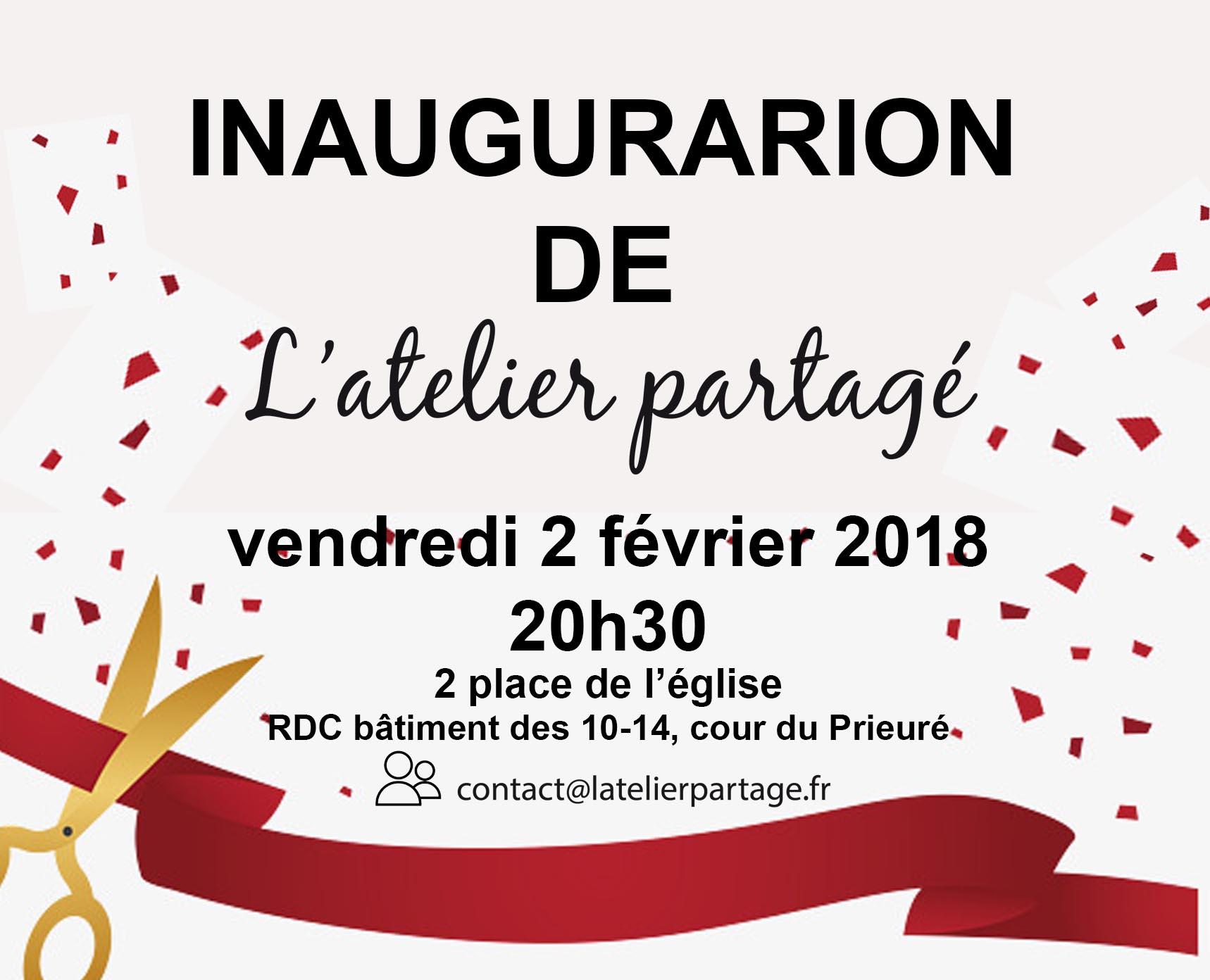 Inauguration le 2 février 20h30